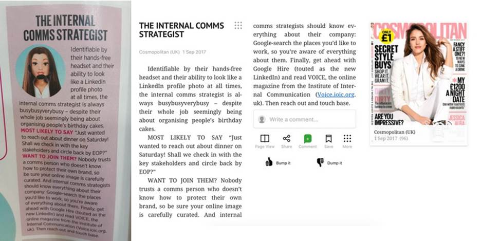 Internal comms far from a piece of cake – despite what a big-name magazine thinks.
