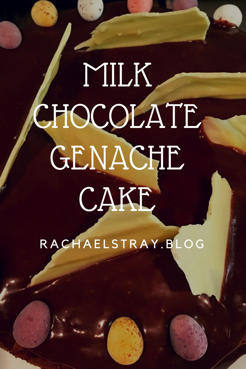 Milk chocolate genache cake